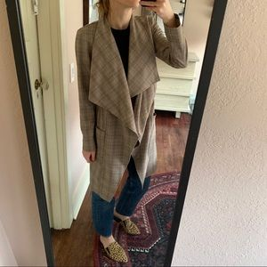 Cupcakes and cashmere plaid trench coat